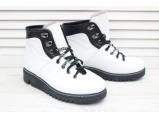 AL-Кожаные зимние женские ботинки-342.Белый.Размеры-36.37.39.(39-24.5 см.)
