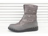 AL-F17-6183-Ботинки женские зимние.Серый.