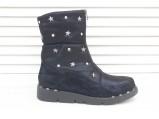 AL-F17-6183-Ботинки женские зимние.Синий.