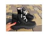 Ботинки Аляска женские зимние 15-112.Чёрные чёрная подошва.