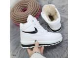 Ботинки Аляска женские-15-117 Найк.Белый.