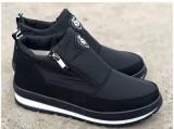 Ботинки Аляска женские-BROMER-ЭДИТА-5.Чёрный-чёрная подошва.