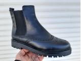 SLI-Кожаные зимние женские ботинки-Размеры-38.