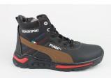 Ботинки Подростковые зимние-3/17-7231 Чёрный.Размеры 36-41