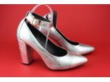 Туфли женские кожаные-SLI 11.Серебро.Размер:40.