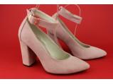 Туфли женские кожаные-SLI 35.Пудра.Размеры:36.37.39.