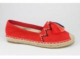 Мокасины женские-SLI-7592.Красный.Размеры:37.39.39.40.41.(37 по стельке-22.5 см.)