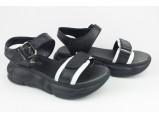 Шлёпанцы женские кожаные-8/1-85-1 Чёрный. Размеры-37-23 см. 39.