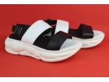 Шлёпанцы женские кожаные-8/1-84 Белый. Размеры-36.37-23.5 см. 39.40.