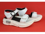 Шлёпанцы женские кожаные-8/1-85 Белый. Размеры-37-23.5