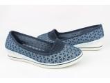Мокасины женские-3/4 Синий . Размеры-37 -стелька-22.5 см.